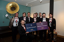 CARDIFF, WALES - Monday, December 5, 2016: The Barry Horns at the Wales Sport Awards 2016 at the Millennium Centre. (Pic by Ian Cook/Propaganda)