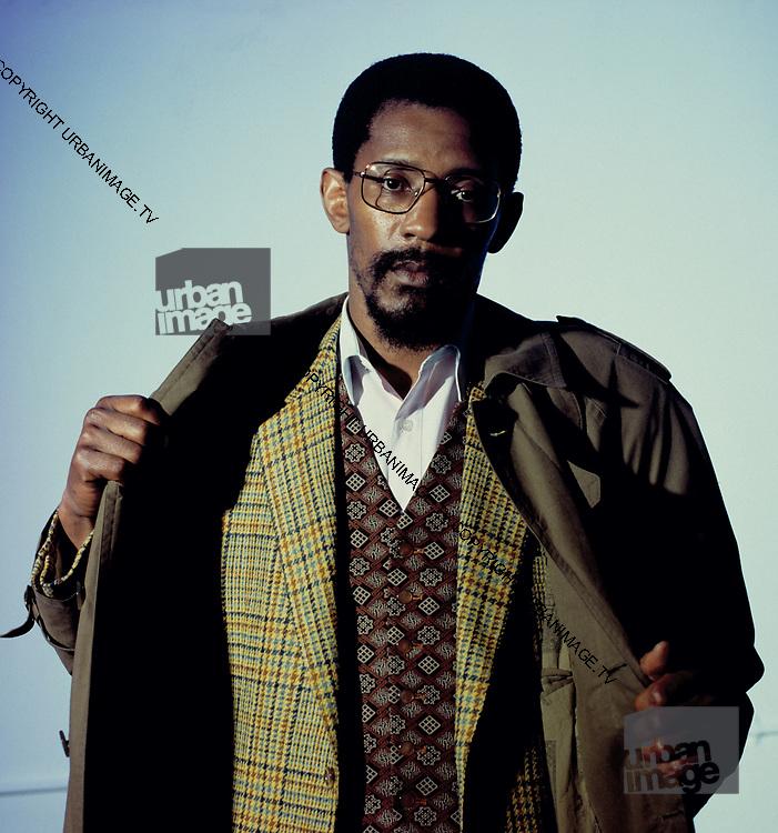 Studio photosession of Linton Kwesi Johnson - London 1991