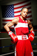 6/24/11 3:00:13 PM -- Colorado Springs, CO. -- A portrait of U.S. Olympic lightweight boxer Queen Underwood, 27, of Seattle, Wash. who will be competing for her fifth title. She began boxing in 2003 and was the 2009 Continental Champion and the 2010 USA Boxing National Champion. She is considered a likely favorite to medal at the 2012 Summer Olympics in London as women's boxing makes its debut as an Olympic sport. -- ...Photo by Marc Piscotty, Freelance.