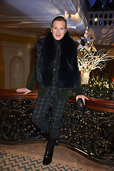 Henry Conway at reception to celebrate the launch of the Claridge's Christmas Tree 2017 at Claridge's Hotel, Brook Street, London England. 28 November 2017.<br /> Photo by Dominic O'Neill/SilverHub 0203 174 1069 sales@silverhubmedia.com