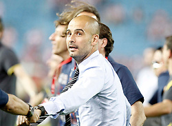 25.05.2012, Vicente Calderon Stadion, Madrid, ESP, Kings Cup Finale, FC Barcelona vs Athletic Bilbao, im Bild Barcelona's coach Pep Guardiola celebrates // during the Spanish Kings Cup final match between Fc Barcelona and Athletic Bilbao at the Vicente Calderon Stadium, Madrid, Spain on 2012/05/25. EXPA Pictures © 2012, PhotoCredit: EXPA/ Alterphotos/ Alvaro Hernandez..***** ATTENTION - OUT OF ESP and SUI *****