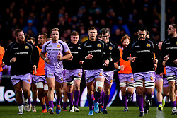 Harry Williams of Exeter Chiefs, Sam Hill of Exeter Chiefs, Henry Slade of Exeter Chiefs, Dave Dennis of Exeter Chiefs  - Mandatory by-line: Ryan Hiscott/JMP - 15/12/2019 - RUGBY - Sandy Park - Exeter, England - Exeter Chiefs v Sale Sharks - Heineken Champions Cup