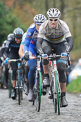 "26.02.2011, Flandern, BEL, Omloop, Radsport Frühjahrsklassikers, im Bild  thor huishovd OF THE TEAM cevelo IN ACTION DURING THE 66e FLANDERS CLASSICS CYLING RACE "" OMLOOP HET NIEUWSBLAD "" in the molenberg. Saterday Feb. 26,  2011. ( EXPA Pictures © 2011, PhotoCredit: EXPA/ nph/   / Laurent Dubrule )       ****** out of GER / SWE / CRO  / BEL ******"