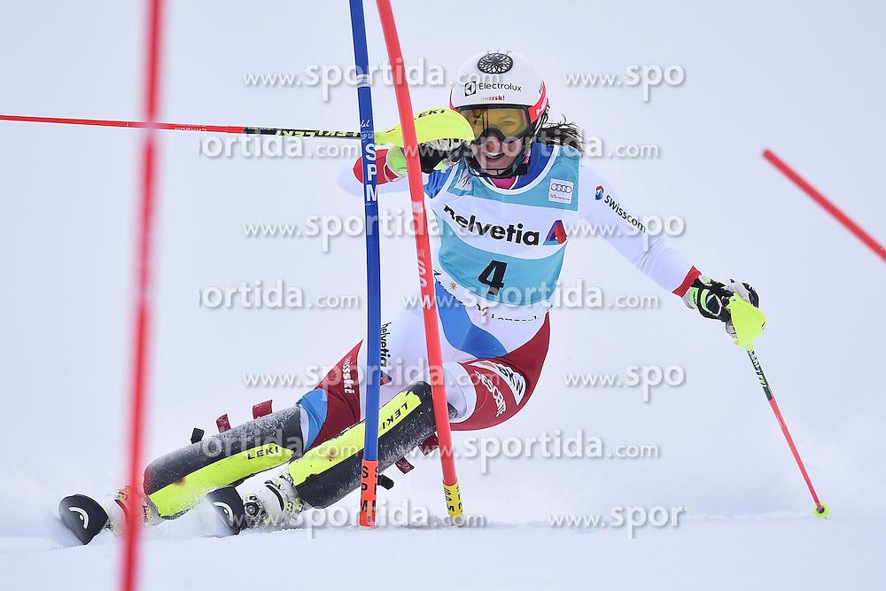 13.03.2016, Pista Silvano Beltrametti, Lenzerheide, SUI, FIS Weltcup Ski Alpin, Lenzerheide, Superkombination, Slalom, Damen, im Bild Wendy Holdener (SUI) // during ladie's Supercombi, Slalom Race of Lenzerheide FIS Ski Alpine World Cup at the Pista Silvano Beltrametti in Lenzerheide, Switzerland on 2016/03/13. EXPA Pictures &copy; 2016, PhotoCredit: EXPA/ Freshfocus/ Manuel Lopez<br /> <br /> *****ATTENTION - for AUT, SLO, CRO, SRB, BIH, MAZ only*****