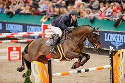 WULSCHNER Benjamin (GER), Pure Boy T<br /> Leipzig - Partner Pferd 2020<br /> FUNDIS Youngster Tour<br /> 2. Qualifikation für 7jährige Pferde <br /> Springprfg. nach Fehlern und Zeit, int.<br /> Höhe: 1.35 m<br /> 18. Januar 2020<br /> © www.sportfotos-lafrentz.de/Stefan Lafrentz