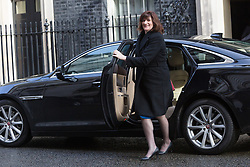 © Licensed to London News Pictures. 12/04/2016. London, UK. NICKY MORGAN arrives for a cabinet meeting at 10 Downing Street. Photo credit : Vickie Flores/LNP