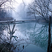 Laurel Fork Road crossed the Beech Creek River in Wild Cat, Ky., on 3/19/10. Photos by David Stephenson
