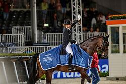 SCHNEIDER Dorothee (GER), SHOWTIME FRH<br /> Rotterdam - Europameisterschaft Dressur, Springen und Para-Dressur 2019<br /> Siegerehrung<br /> Longines FEI Dressage European Championship <br /> Grand Prix Special<br /> 22. August 2019<br /> © www.sportfotos-lafrentz.de/Stefan Lafrentz