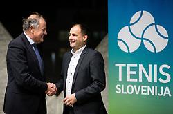 Marko Umberger, former president and Andrej Slapar, new president during General Assembly of Slovenian Tennis Federation, on December 12, 2018 in Kristalna palaca, Ljubljana, Slovenia. Photo by Vid Ponikvar / Sportida