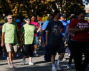 More than 4,000 participants walk during the 2014 Silicon Valley Heart & Stroke Walk at KLA-Tencor in Milpitas, California, on October 11, 2014. (Stan Olszewski/SOSKIphoto)