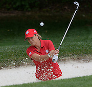 u 7/22/14 10:03:33 AM -- Owings Mills, MD, U.S.A  -- LPGA International Crown practice round -- Golfer Christie Kerr hits out of a bunker during a practice round.   Photo by H. Darr Beiser, USA TODAY Staff ORG XMIT:  HB 131418 International Cr 7/22/2014 (Via OlyDrop)