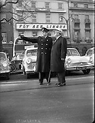 Mr. Rull on O'Connell Street, Dublin.<br /> 10.11.1961