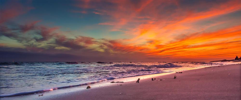 The sun sets on Dauphin Island's east end, Nov. 20, 2013. (Photo by Carmen K. Sisson/Cloudybright)