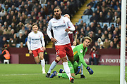 Nottingham Forest forward Lewis Grabban (7) scores a goal from open play 0-1 during the EFL Sky Bet Championship match between Aston Villa and Nottingham Forest at Villa Park, Birmingham, England on 28 November 2018.