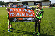 Young FGR fans during the Vanarama National League Play Off second leg match between Forest Green Rovers and Dagenham and Redbridge at the New Lawn, Forest Green, United Kingdom on 7 May 2017. Photo by Shane Healey.