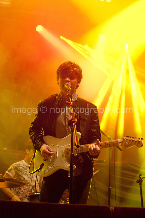 The Academic perform at the Festival Big Top as part of Galway Arts Festival, Galway City Saturday 18th July 2015. Photo credit: Doreen Kennedy