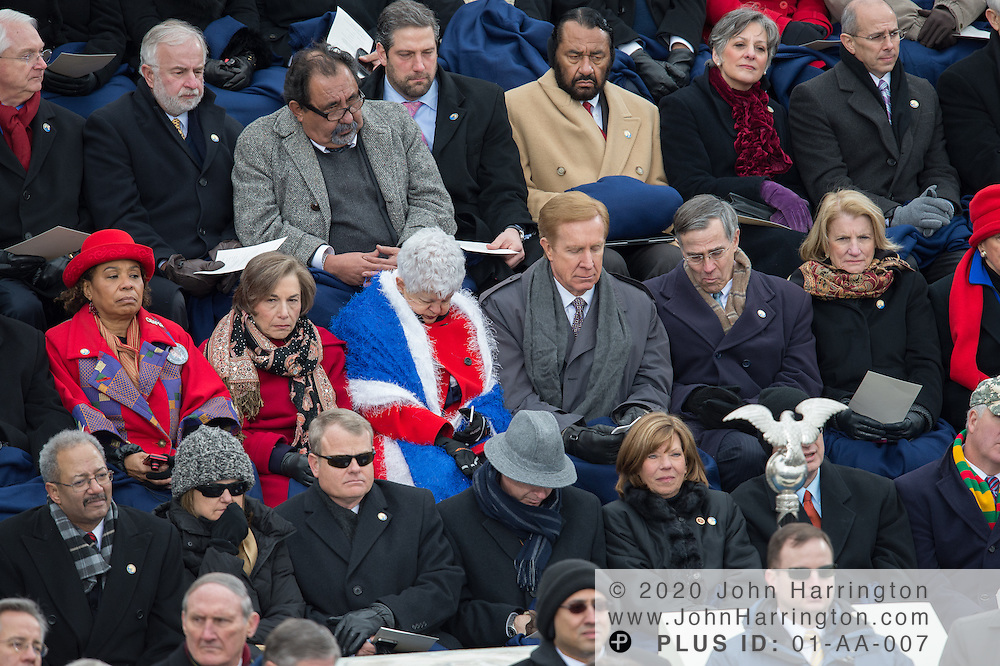 Members of the US House of Representatives listen during the 57th Presidential Inauguration of President Barack Obama at the U.S. Capitol Building in Washington, DC January 21, 2013.