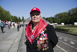 May 9, 2018 - Berlin, Germany - Ada from Moscow poses for a picture on the 73rd anniversary of the victory of the Soviet Red Army over Nazi Germany at the Soviet World War II cemetery and memorial in Treptow on May 9, 2018 in Berlin, Germany. (Credit Image: © Emmanuele Contini/NurPhoto via ZUMA Press)