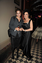 Left to right, TRACEY EMIN and NANCY DELL'OLIO at 'Superficial Butterfly' a party hosted by Amanda Eliasch to celebrate her 50th birthday held at Number One Mayfair (St Marks Church) North Audley Street, London on 12th May 2010.
