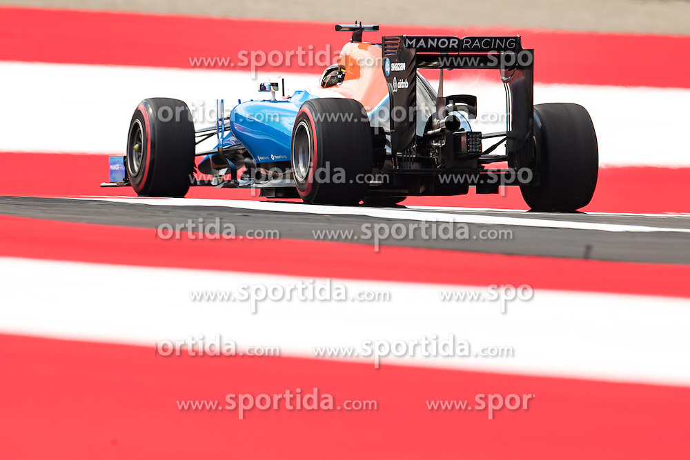 01.07.2016, Red Bull Ring, Spielberg, AUT, FIA, Formel 1, Grosser Preis von Österreich, Training, im Bild Pascal Wehrlein (GER) Manor Racing // German Formula One driver Pascal Wehrlein of Manor Racing during the Trainings for the Austrian Formula One Grand Prix at the Red Bull Ring in Spielberg, Austria on 2016/07/01. EXPA Pictures © 2016, PhotoCredit: EXPA/ JOHANN GRODER