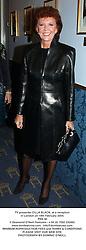 TV presenter CILLA BLACK, at a reception in London on 19th February 2004.<br /> PRZ 40