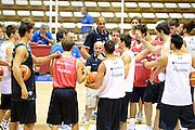 Trieste, 08/08/2012<br /> Baslet, Nazionale Italiana Maschile Senior<br /> Allenamento<br /> Nella foto: Luca Dalmonte, team<br /> Foto Ciamillo