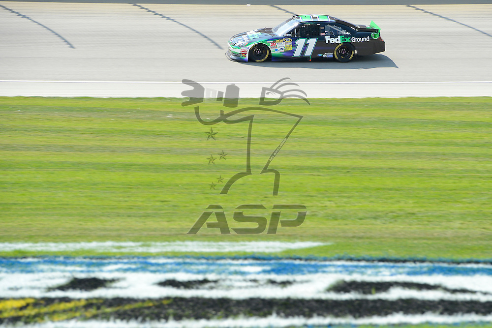 Joliet, IL - SEP 16, 2012: Denny Hamlin (11) during the Geico 400 at the Chicagoland Speedway in Joliet, IL.