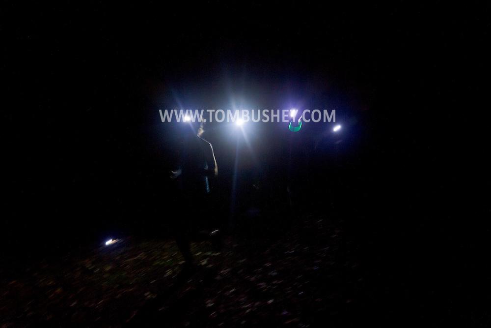 Goshen, New York - Night run on the Heritage Trail on Oct. 2, 2014.