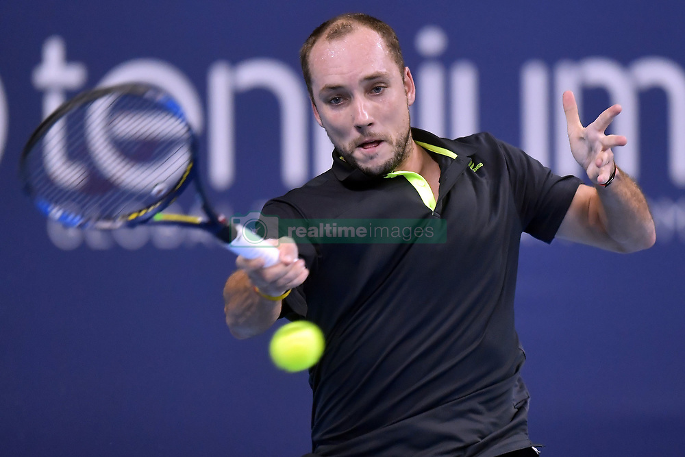 October 19, 2017 - Anvers, Belgique - ANTWERP, BELGIUM - OCTOBER 19 :   Steve Darcis (BEL) returns a forehand during his second round match against David Ferrer (ESP) on day 5 of the European Open on October 19, 2017 in Antwerp, Belgium, 19/10/2017 (Credit Image: © Panoramic via ZUMA Press)