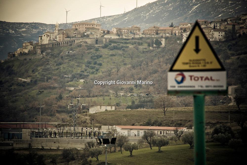 Corleto Perticara (PZ) 17.02.2009, Italy - Tempa Rossa - Speranze e realtà del giacimento Total in Basilicata. NELLA FOTO: Il paese di Corleto Perticara, 2600 abitanti circa.