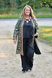 ISABEL GOLDSMITH attending Annabel Goldsmith's Summer party held at her home in Ham, Surrey on 10th July 2014.