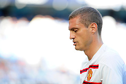 Manchester United's Nemanja Vidic - Photo mandatory by-line: Dougie Allward/JMP - Tel: Mobile: 07966 386802 22/09/2013 - SPORT - FOOTBALL - City of Manchester Stadium - Manchester - Manchester City V Manchester United - Barclays Premier League