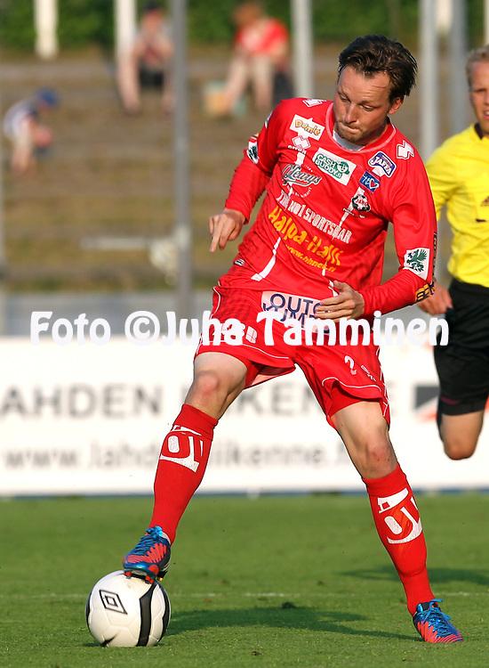 29.7.2012, Hiihtostadion, Lahti..Veikkausliiga 2012..FC Lahti - FF Jaro..Tillmann Grove - Jaro