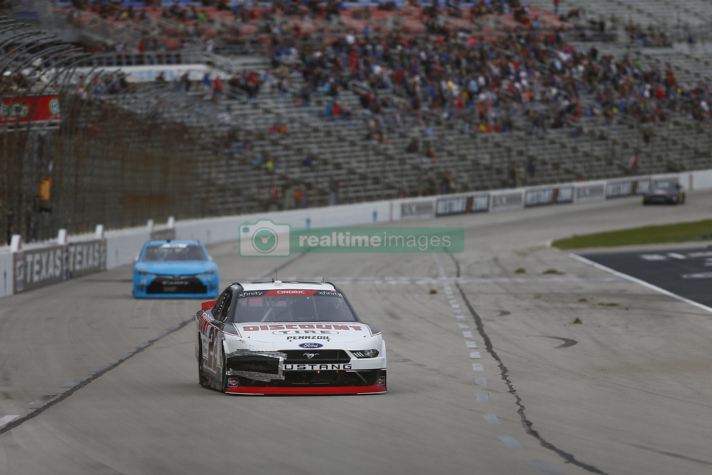 November 3, 2018 - Ft. Worth, Texas, United States of America - Austin Cindric (22) battles for position during the O'Reilly Auto Parts Challenge at Texas Motor Speedway in Ft. Worth, Texas. (Credit Image: © Justin R. Noe Asp Inc/ASP via ZUMA Wire)