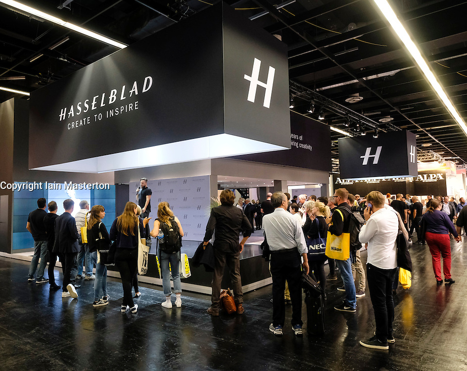 Hasselblad stand at Photokina trade fair in Cologne, Germany , 2016