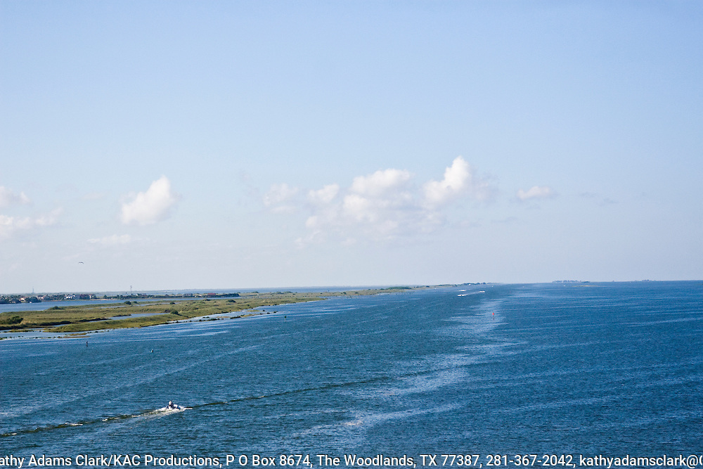 Laguna Madre, coastal Texas, from the causeway connecting Corpus Christi with Padre Island.