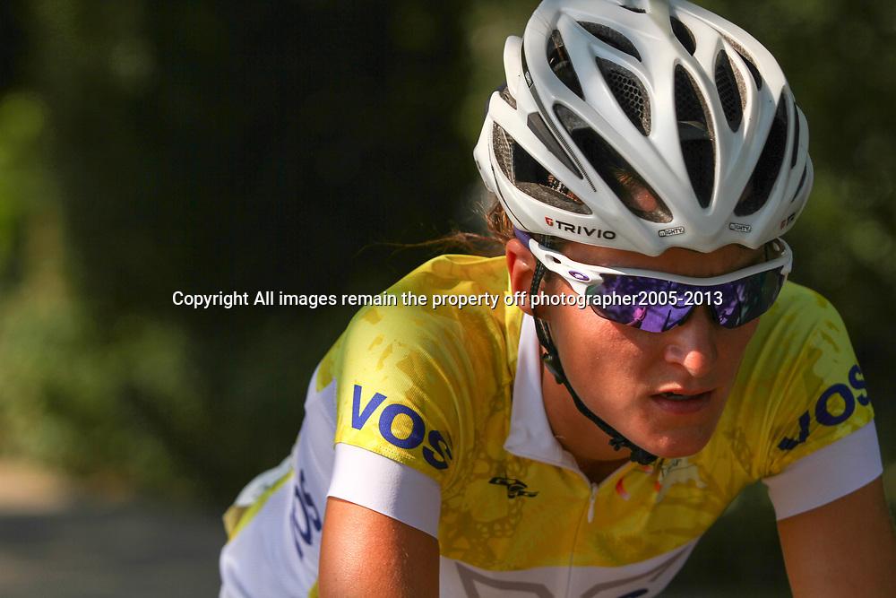Boels Rental Ladies Tour Leerdam Lizzy Armtistead in de sprinttrui