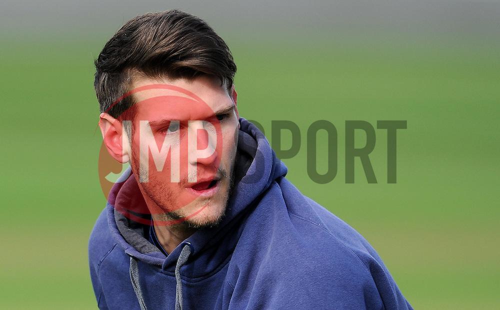 Gloucestershire's David Payne - Photo mandatory by-line: Harry Trump/JMP - Mobile: 07966 386802 - 30/03/15 - SPORT - CRICKET - Pre Season Fixture - T20 - Somerset v Gloucestershire - The County Ground, Somerset, England.