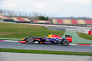 February 19, 2013 - Barcelona Spain. Sebastian Vettel, Red Bull Racing   during pre-season testing from Circuit de Catalunya.
