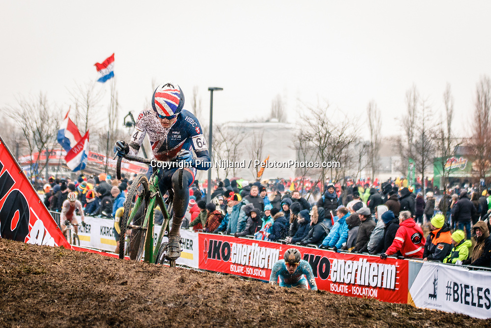 Billy HARDING of GBR during the Men Under 23 race, UCI Cyclo-cross World Championship at Bieles, Luxembourg, 29 January 2017. Photo by Pim Nijland / PelotonPhotos.com | All photos usage must carry mandatory copyright credit (Peloton Photos | Pim Nijland)