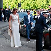 NLD/Amsterdam/20110527 - 40ste verjaardag Prinses Maxima, Aankomst Prinses Mathilde van Belgie