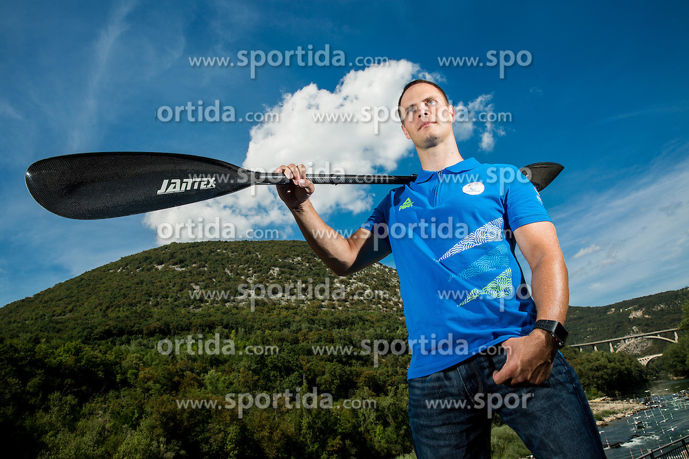 Dejan Fabcic, Slovenian Para canoeist during Media day of the National Paralympic Committee (NPC) of Slovenia before Paralympic Games in Rio, on August 2, 2016 at Soca River, Nova Gorica, Slovenia. Photo by Vid Ponikvar / Sportida