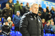 Oldham boss John Sheridan during the Sky Bet League 1 match between Oldham Athletic and Blackpool at SportsDirect.Com Park, Oldham, England on 15 March 2016. Photo by Mike Sheridan.