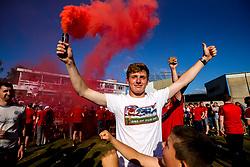 Aberdeen fans congregate at Burnley Cricket Club next to Turf Moor ahead of the UEFA Europa League Second Qualifier, 2nd Leg tie - Mandatory by-line: Robbie Stephenson/JMP - 02/08/2018 - FOOTBALL - Turf Moor - Burnley, England - Burnley v Aberdeen - UEFA Europa League Second Qualifier, 2nd Leg