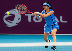 February 10, 2019 - Doha, QATAR - Shuko Aoyama of Japan in action during qualifications at the 2019 Qatar Total Open WTA Premier tennis tournament (Credit Image: © AFP7 via ZUMA Wire)