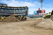 Angel Stadium Cleanup After Motorcross Event