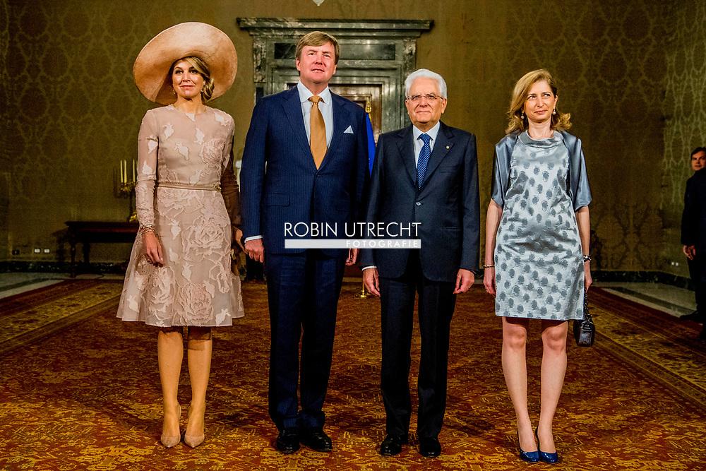 Официальный визит королевской четы Нидерландов в Италию, день 1
