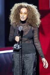 August 6, 2017 - New Jersey, U.S - Singer, songwriter, SOLANGE, at the 2017 Black Girls Rock awards show. Black Girls Rock 2017 was held at the New Jersey Performing Arts Center in Newark New Jersey. (Credit Image: © Ricky Fitchett via ZUMA Wire)