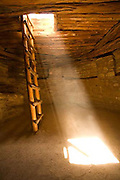 Spruce Tree House Kiva, light beam