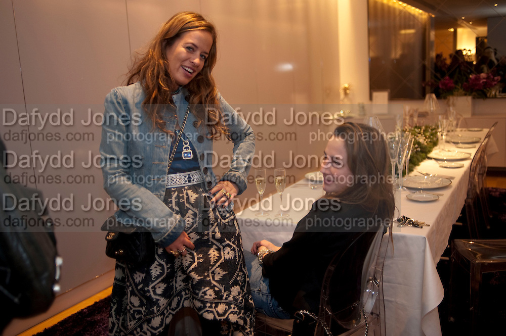 JADE JAGGER; ZITA NEVILE, INTERIORS BY YOO BOOK LAUNCH,  First design book by Yoo and its stable of prolific designers; Philippe Starck, Marcel Wanders, Jade Jagger and Kelly Hoppen. Selfridges Personal Shopping dept. Selfridges. 3 December 2009.